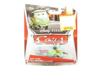 Disney Pixar Voitures Miniature Raceteam Fillmore Avec Casque 2013 1.55 On Carte
