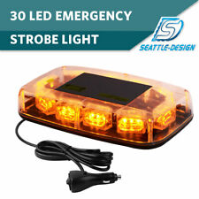 30LED Top Roof Flashing Emergency Mini Strobe Light Bar Amber/Yellow 12V-24V