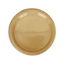 20 plastique ASSIETTE 9IN 23cm couleur dorée mariage anniversaire