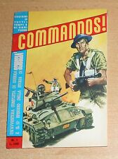 ED.SEPIM  SERIE  COMMANDOS !   N°  1  1966  ORIGINALE !!!!!