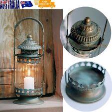 Hanging Metal Lantern Glass Tea Light Candle Holder Vintage Wedding Home Decor