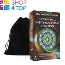 POSITIVE ASTROLOGY CARDS KRYSTAL SAVOY ESOTERIC TELLING AGM WITH VELVET BAG NEW