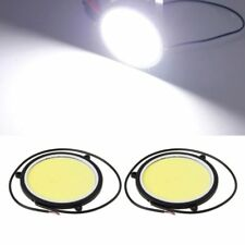 2pcs 90mm 12V COB LED Car Auto Round DRL Daytime Running Light White Bulbs Lamp