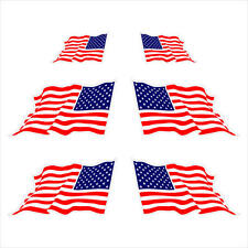 American USA Set-of-6!!!!! Flags Durable Decal Sticker