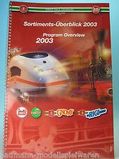 LGB Sortiments-Überblick 2003 (Program Overview)