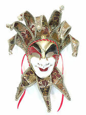 RED GOLD BLACK JOKER VENETIAN MASQUERADE MASK MARDI GRAS CARNIVAL PARTY C31