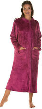 Lady Olga Sweet Embrace Soft Feel Embossed Zip Front Dressing Gown Housecoat
