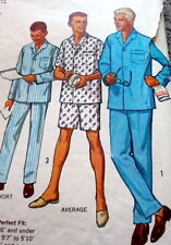 *GREAT VTG 1960s MENS PAJAMAS Sewing Pattern Size Large