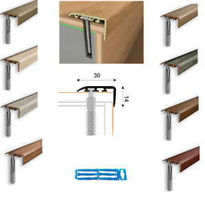 UPVC Stair Nosing Edge Trim Step Nose Floor Edging   Laminate Floor- L 1 m 30x14