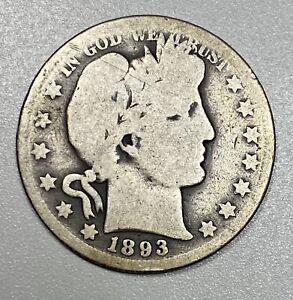 1893-O Barber 50C Silver Half Dollar