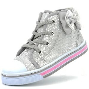 Girls Toddler Canvas Shoes Sneaker Strap Little Kid Baby Flower Sequin Soft Sole