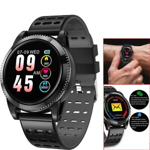 Men Bluetooth Smart Watch Heart Rate Monitor Phone Mate Wrist Watch for Samsung