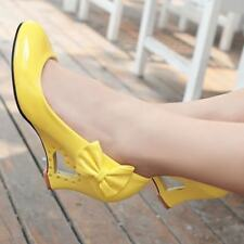 Zapatos de Novia Tacón Blanco Marfil Cuña Boda Tacones Altos Mujer