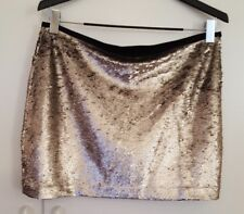 ZARA BASIC WOMEN'S SILVER SEQUIN MINI SKIRT SIZE LARGE PARTY SKIRT NIGHT OUT