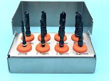 Taladros de implante dental Kit de 8 piezas Conjunto de herramientas quirúrgicas Titanio Recubierto Negro Nuevo