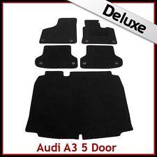 Audi A3 Mk2 Sportback 2003-2013 Tailored LUX 1300g Carpet Car & Boot Mats BLACK