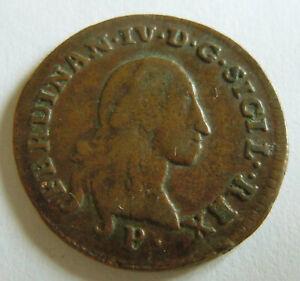 Rare 1798 P Italian States REALI PRESIDII TOSCANI 2 QUATTRINI  Italy