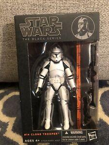 Star Wars vintage Black Series Orange Line #14 Phase I Clone Trooper (AOTC)