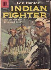 4-COLOR  #779 1957 DELL -INDIAN FIGHTER: LEE HUNTER WESTERN-YANKEE/ REBEL...