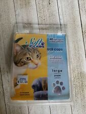 Soft Claws Nail Caps for Cats Kittens Paws, Large . Purple J
