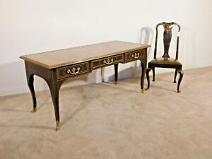 BAKER Furniture Company French Louis XV Executive Desk & Matching Chair