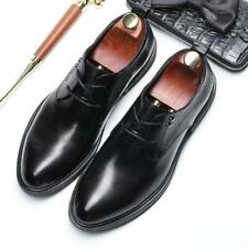 British Mens Real Leather Business Leisure Shoes Pointy Toe Work Oxfords Party L