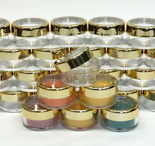 200 Cosmetic Jars Empty Beauty Makeup Containers Gold Acrylic Tops 10 Gram #3012