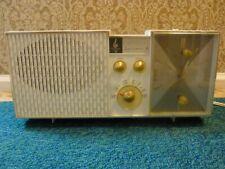 vintage emerson am table radio with alarm clock