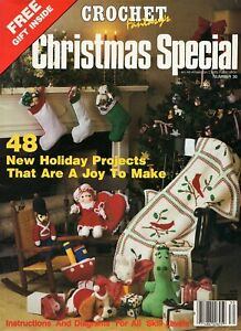 Crochet Fantasy 1986 Christmas Special Ornaments Stockings Toys