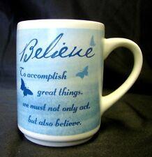 Bay Island BELIEVE Mug Accomplish Great Things Inspirational Gift Coffee Cup
