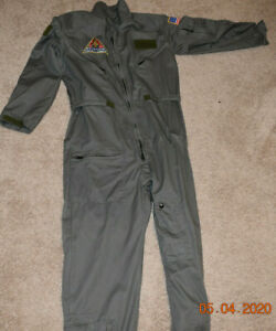 Aviation Challenge Space Camp Gear Grey Uniform Flight Suit Jump Coverall LARGE