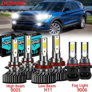 Combo 6000K LED Headlight Hi Low Beam Fog Light Bulbs For Ford Escape 2013-2016