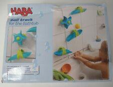 HABA Ball Track Play Set For The Bathtub, 6 pcs, Light Blue & Yellow *READ*