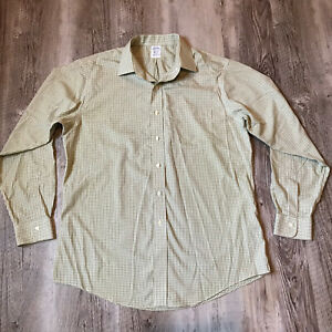 Brooks Brothers Classic Non Iron Long Sleeve Button Up Shirt Men's Size 16.5-35