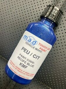 30ML TOUCH UP PAINT BOTTLE PEUGEOT / CITROEN RECIFE BLUE KMF SCRATCH CHIP