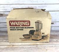 NEW Vintage Waring Push Button Blender BL2083 Multi-Speed Harvest 1970s Open Box