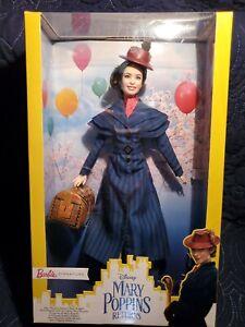 NEW Barbie Signature Disney Mary Poppins Returns Doll SEALED