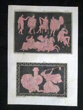 Pittura rossa, Millin Incisione colorata a mano del 1820 Mitologia Pozzoli