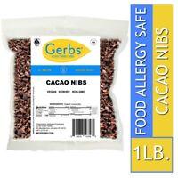 Cocoa Nibs, 1 LB - Food Allergy Safe, Vegan & Non GMO by Gerbs