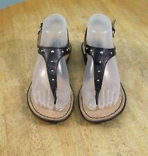 Born Concepts Candia Thong Sandal Ankle Strap Black Size 7/38