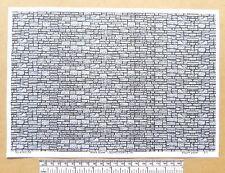 """OO/HO gauge (1:76 scale) """"Block stone"""" -  paper- A4 sheet"""