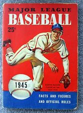 1945 MAJOR LEAGUE BASEBALL MLB Facts Figures Official Rules SPORTS Heusser