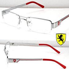 Khan Clear Lens Fashion Eye Glasses Rectangular Frame Metal Half Rim Designer