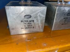 2 Tobe 8uF 600Vdc Filter-Mite Fm608 Capacitors