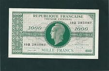BILLET  1000 FRANCS MARIANNE  1945 CHIFFRES GRAS