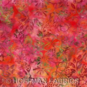 K2461 Nasturtium 469 red/orange Hoffman Fabric