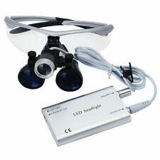 Dental Medical Magnifier Binocular Loupes 35x R With Led Head Light Lamp