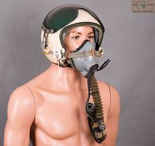 Original Russian Soviet pilot flight helmet ZSH-5+oxygen mask USSR air force mig