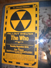 THE WHO--- Concert Poster --- SIGNED BY ARTIST RANDY TUTEN