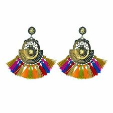 PANACEA Tribal Tassel Chandelier Statement EARRINGS